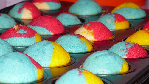 Rainbow Cupcakes Cooked