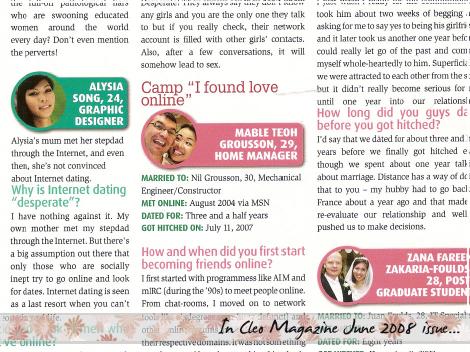In Cleo Magazine