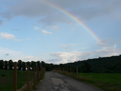 A rainbow over the Loxley Valley