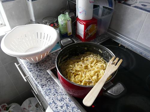 La pasta preparada