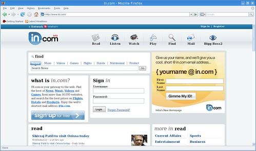 buscador y página de inicio
