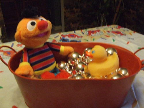 ernie and his rubber duckie