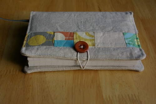 Linen Covered Notebook Side View by you.
