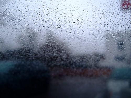 misty day on my windshield