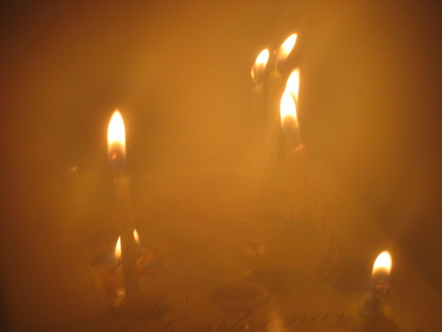 Birthday candles without a cake