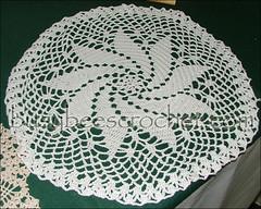 White Pinwheel Doily