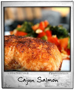 Cajun Salmon with Asian Greens
