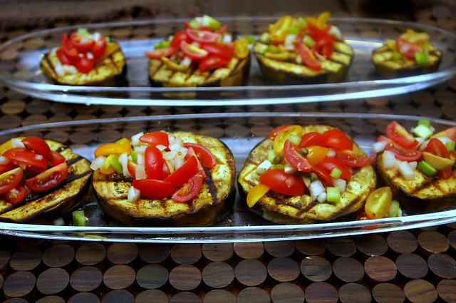 grilled eggplant with caponata salsa