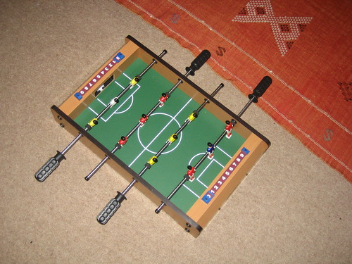 A desktop table football game. This is awesome.