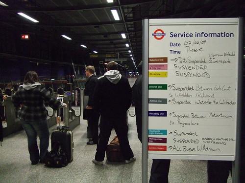 North Greenwich Tube, 6.50am