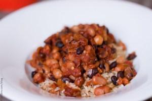 Rice & Three Bean Chili