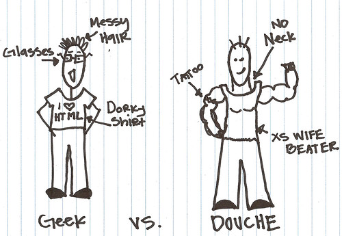 Geek VS. Douche