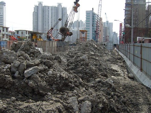 Construction site on Siping Road