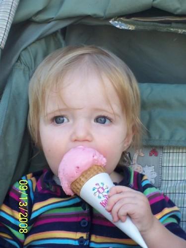 Selah's First Ice Cream Cone