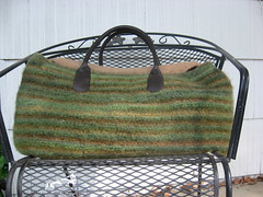 Felted Carpet bag