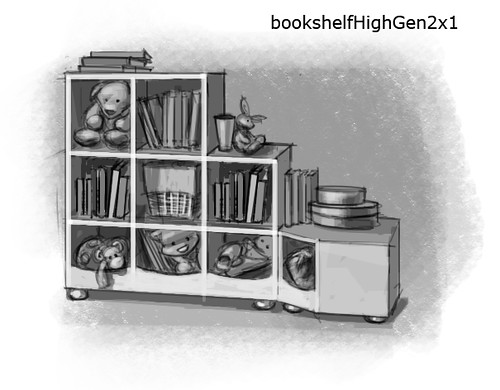 More Concept Art from Generations - Child's Bookcase