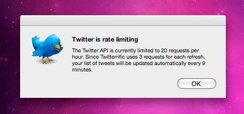 Twitter limitations