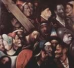 """Hieronymus Bosch, """"El Bosco"""". Cristo con la Cruz a cuestas, hacia 1510 o 1535."""