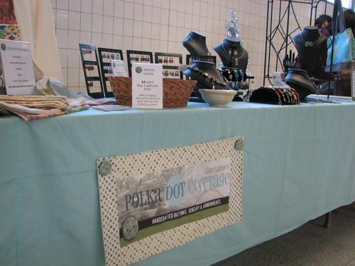 Table at Saturday's vendor thingy
