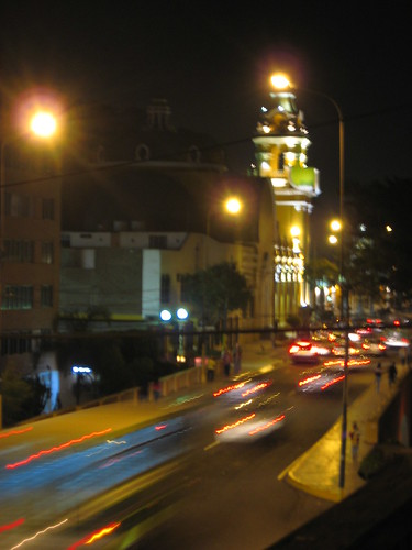 Barranco at night from our window