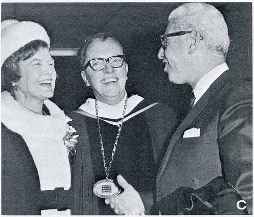 (l to r) Mrs. and Dr. Allyn Robinson with Arthur Goldberg on inauguration day.