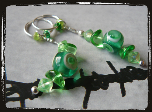 Orecchini fatti a mano verdi - Green Handmade Earrings