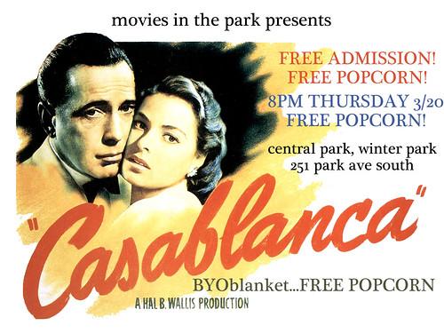Casablance advert for