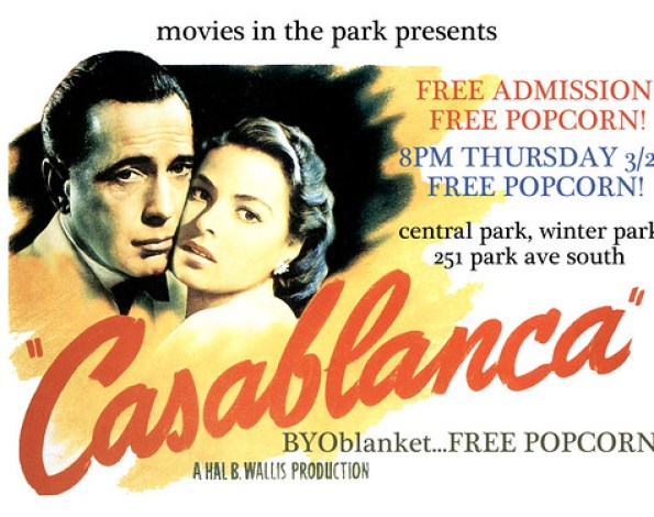 Casablance advert for