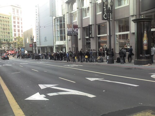 Iphone line in sf at 9 am