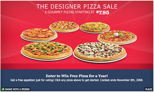 Win Free Pizza for a Year!