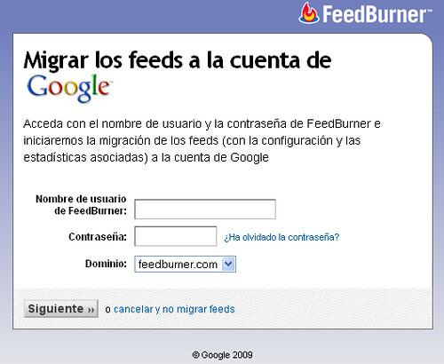 Migracion FeedBurner a Google - 1