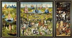 """El Bosco"""". Triptico El Jardin de las Delicias, 1503-1504."""