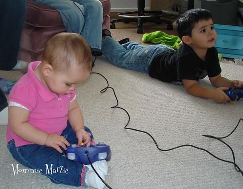 Sophie plays too - 1