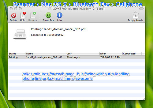 Fax via Bluetooth. This is fricking awes by Alan H., on Flickr