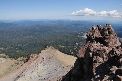 Hiking up Mt. Lassen