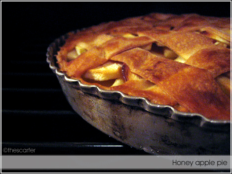 Honey apple pie