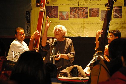 Ustad Fahimuddin Dagar saab at Kohima, Spicmacay convention by Vasu..