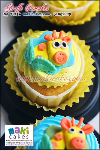 Giraffe Cupcakes - Maki Cakes