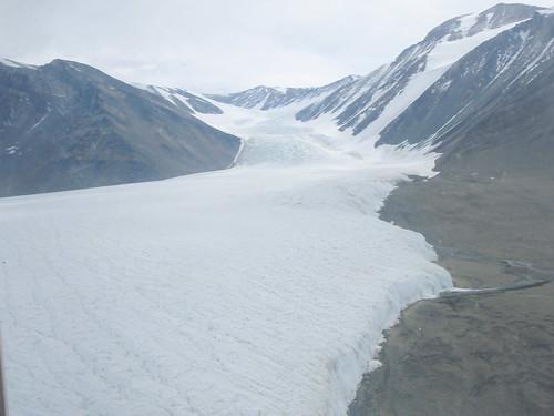 Canada glacier from air