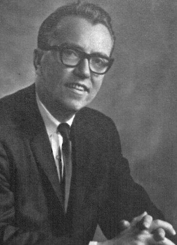 Dr. Allyn Robinson, first president of Dowling College
