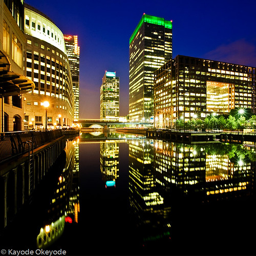 Canary Wharf Reflections at Twilight