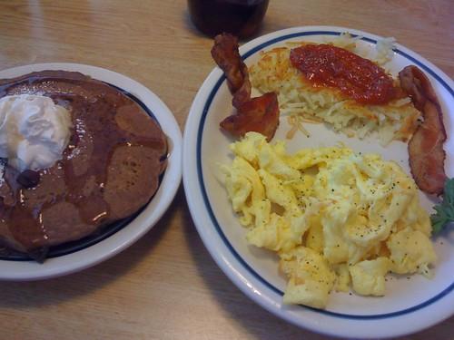 Pancake and eggs