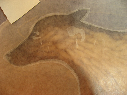 Wax paper rubbing demo I