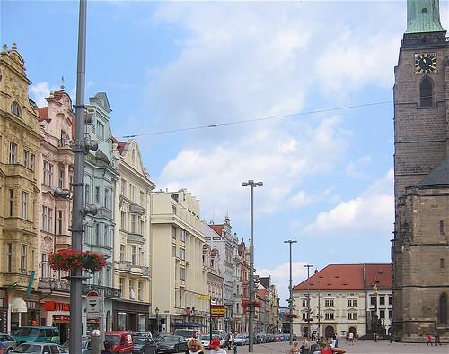 Town square in Plzeň