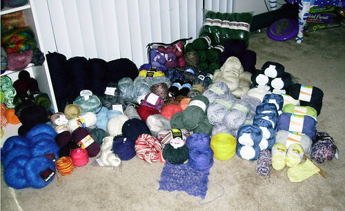 Mostly uncatalogued Yarn collection 7.4.08
