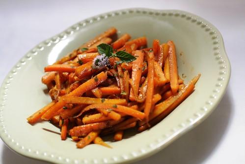 Glazed Carrots in Lavender Vinegar