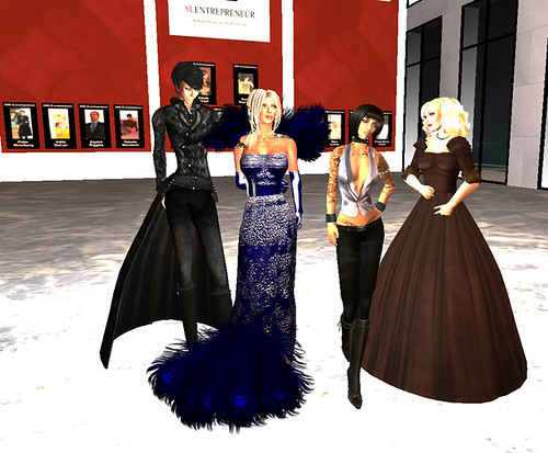 Rush Raymaker, Mimi Juneau, Avarie Parker and Saffia Widdershins at the SL-Entrepreneur Awards