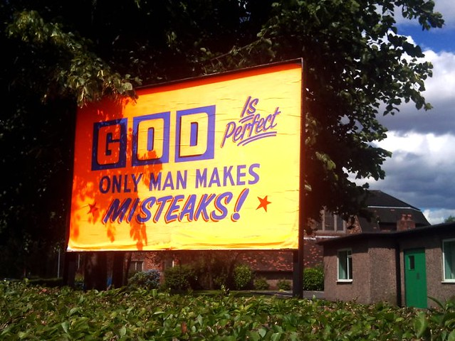 Only man makes misteaks