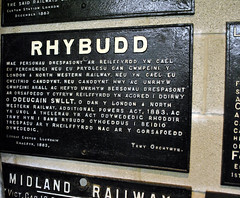 Welsh Railway Sign