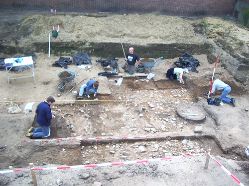 Me excavating in the Netherlands